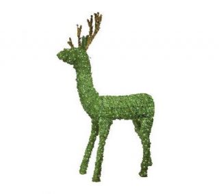 Outdoor Prelit Topiary Deer Lawn Sculpture —