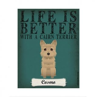 Personal Creations Life is Always Better Dog Breed Art   Tan Terrier