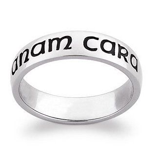 Sterling Silver Mo Anam Cara Band, Size: 12: Jewelry