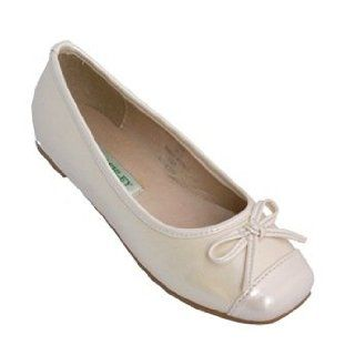 Laura Ashley Ballerina Flats Dress Shoes Pearl Ivory (Size 4 Youth (Big Girl)): Shoes