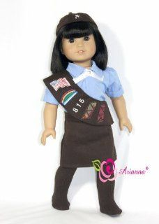 Brownie Scout 6PCS. Uniform18 Inch Doll Clothes/clothing Fits American Girl doll Toys & Games