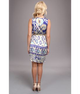 Hale Bob Oasis Mosaic Sleeveless Tank Dress Aqua