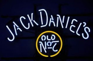 NEW Jack Daniels Old #7 Whiskey Beer Bar Neon Light Sign 19''x15'' Handcrafted