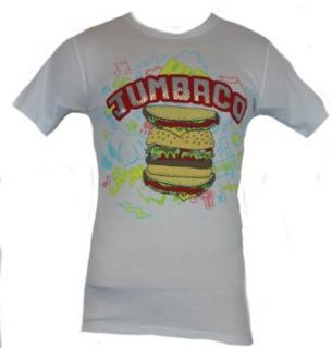 "Jack in The Box (Fast Food Resturant) Mens T Shirt   ""Jumbaco"" Giant Huge Burger Picture on White (Small): Clothing"