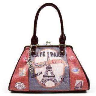 Cafe Paris Boston Bag by Nicole Lee Shoulder Handbags Clothing
