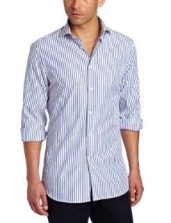J.Lindeberg Men's Corkz 60S Blues Dress Shirt, Royal Blue, 38/15 at  Men�s Clothing store