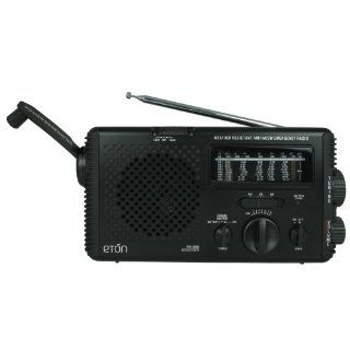 Eton FR350 Self Powered Water Resistant AM/FM/Shortwave Radio   Choose Color   Black One Size: Electronics