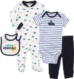 Carter's Baby Boys' 4 Piece Layette Set Clothing