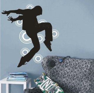 Hip hop Dancers Man Boy Unique Art Stickers Decals Tv Set Decal Wall Sticker Vinyl Wall Decor Living Room Bed Room 364   Other Products