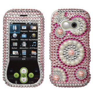 Deep Sea Silver Diamante Protector Cover for LG GT365 Neon: Cell Phones & Accessories