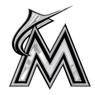 Florida Marlins MLB Chrome 3D for Auto Car Truck Emblem Decal Sticker Baseball Officially Licensed Team Logo  Sports Fan License Plate Frames  Sports & Outdoors