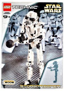 Lego Year 2001 Technic Star Wars Series Set # 8008   STORMTROOPER with Blaster Pistol and 1 Projectile Plus Instruction Manual (Total Pieces  361) Toys & Games