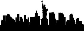 "NEW YORK CITY SKYLINE BIG APPLE SILHOUETTE VINYL DECAL HOME DECOR LARGE SIZE 15""   Wall Decor Stickers"