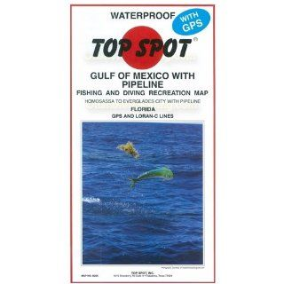 Top Spot Fishing Map from West Coast Florida Offshore Homosassa to Everglades City : Fishing Charts And Maps : Sports & Outdoors