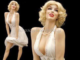 (MZ MONROE1)Realistic SEXY Female Flesh Tone Mannequin, Marilyn Monroe pose:
