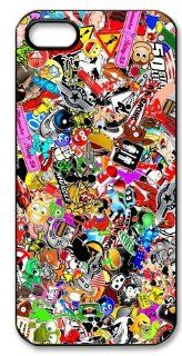JDM Sticker Bomb Hard Case for Apple Iphone 5/5S Caseiphone 5 384: Cell Phones & Accessories