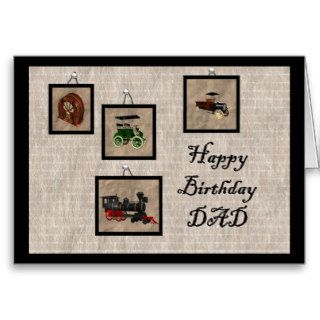 Happy Birthday DAD Greeting Cards