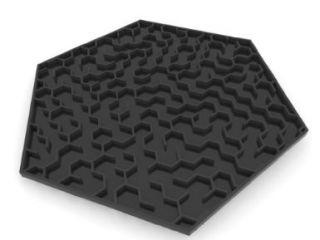 3D Printed Maze Coasters, Black: Andres San Millan: 3D Printing