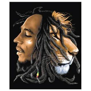 Bob Marley Lion Micro Raschel Fleece Blanket   Throw Blankets