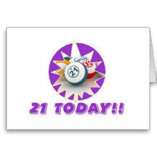 Bingo cards   21st birthday
