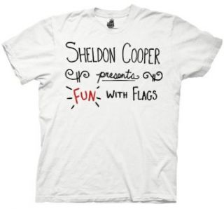 Big Bang Theory Sheldon Cooper Fun with Flags T shirt Clothing