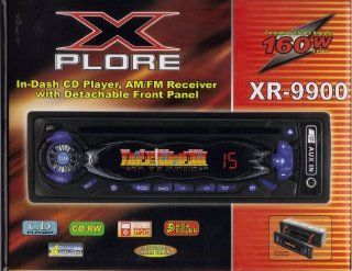 X PLORE SYSTEMS In Dash Car CD Player. AM/FM Radio Receiver with Detachable Front Panel  Vehicle Cd Player Receivers