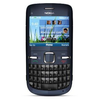 Nokia C3 00 Unlocked Cell Phone (Slate) with QWERTY, Dedicated E mail Key, 2 MP Camera, Media Player, WLAN, and MicroSD Slot: Cell Phones & Accessories