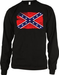 Confederate Flag Mens Thermal Shirt, Southern States, Confederate States Rebel Flag Men's Thermal: Clothing