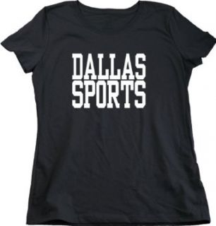 DALLAS SPORTS Ladies Cut T shirt / Mavericks, Stars, Cowboys, Rangers Fan Tee Clothing