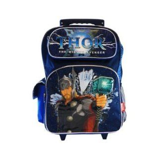 Full Size Blue Thor the Mighty Avenger Rolling Backpack with Wheels Clothing