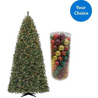 Holiday Time Your Choice 9 Christmas Tree and Bonus 101 Count Ornament Set Bundle Christmas Decor