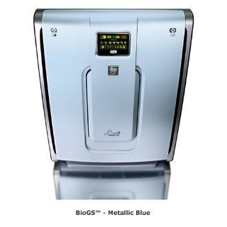 Rabbit Air BioGS (model 421A   covers 600 sq. ft.) High Quality Ultra Quiet Air Purifier   Low Maintenance   Washable Filters, Metallic Blue Home & Kitchen