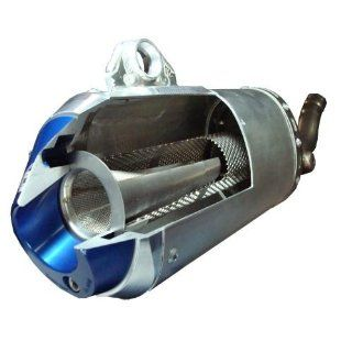 Pro Moto Billet Spark Arrestor End Cap   Blue PMB 01 5104 Automotive