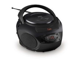 Jwin JxCD424Blk Portable CD/Radio Boombox with Input   Players & Accessories