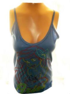 The Little Mermaid Disney Girls (Womens) Tank Top   Ariel Dreamy on Blue Clothing