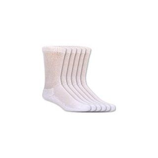 Dr. Scholl's Diabetes & Circulatory Crew Socks White MED   6 Pairs: Health & Personal Care