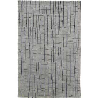 2' x 3' Abstract Oasis of Gray Wool Area Throw Rug