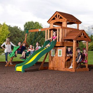 Backyard Discovery Tanglewood Cedar Wooden Swing Set Outdoor Play