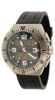 Momentum Men's 1M SP24B1B Format 4 Ana Digi Black Groove Rubber Watch Watches