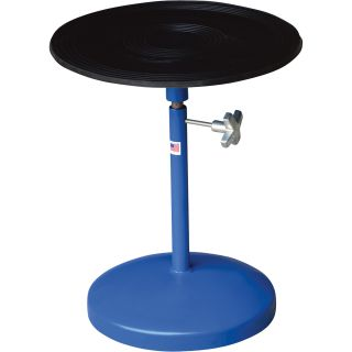 Vestil Heavy-Duty Manual Turntable —  With Pedestal, 300-Lb. Capacity, 18in. Dia., 21in.–32in.H, Model# TT-18-PED  Turntables