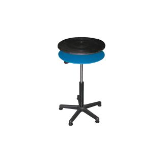 Vestil Heavy-Duty Manual Turntable — Double Tier, With Pedestal, 300-Lb. Capacity, 18in. Dia., 24in.–34in.H, Model# TT-18-CDPED  Turntables