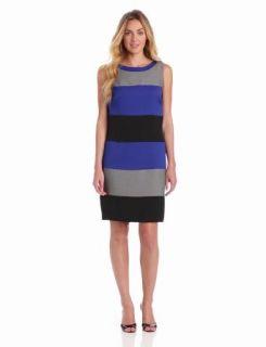 Julian Taylor Women's Sleeveless Colorblock Dress, Blue/Black, 12 Missy at  Women�s Clothing store: