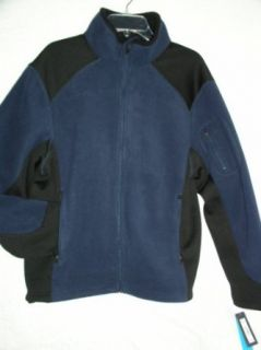 Tek Gear Bonded Fleece Jacket, Size Small, Navy Seal at  Men�s Clothing store Fleece Outerwear Jackets