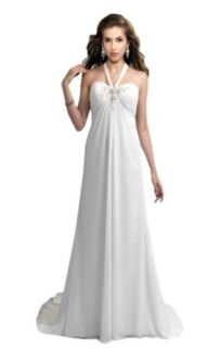Biggoldapple Sheath/Column Halter Chapel Train Wedding Dress 364x at  Women�s Clothing store