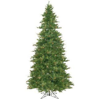 """Vickerman 06323   12' x 76"""" Mixed Country Pine Slim with Pine Cones and Grapevines Christmas Tree (A801690)   Christmas Tree Slim"""