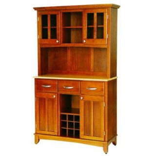 Home Styles Wine Rack Buffet with 2 Door Hutch