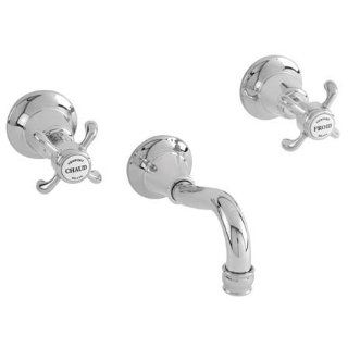 Newport Brass 3 1685/08A Virginia Double Handle Tub Faucet Trim with Metal Cross Handles, Antique Copper   Faucet Trim Kits