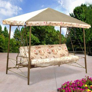 RUS472W Swing Replacement Canopy  Porch Swings  Patio, Lawn & Garden