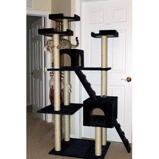 Go Pet Club Cat Tree, 50W x 26L x 72H, Blue : Pet Supplies