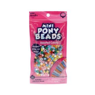 Kids Craft Pony Beads, Assorted Colors: Crafts